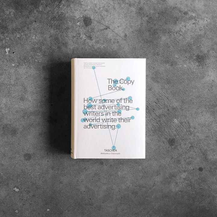 """Today in the store 📘 The Copy Book, published by @taschen. 5 in stock. """"In 1995, the D&AD published a book on the art of..."""