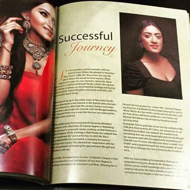Excited to see my 1st a print magazine article on my journey in films & television in this international magazine... Tha...