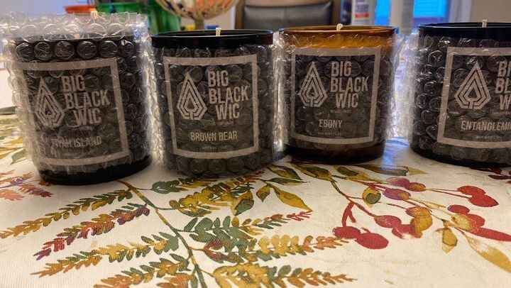 What is your favorite#BigBlackWic candle? Ebony has been getting a little buzz!!!! #candle #candles #handmade #homedecor...