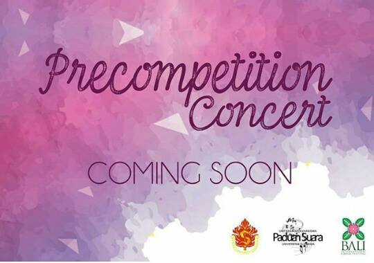 Ubaya Choir proudly present precompetition concert goes to 5th BICF (Bali International Choir Festival) 2016.CONDUCTED b...