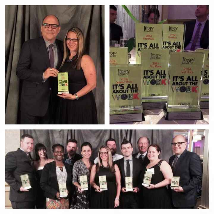 Great time last night at the NJAdClub Awards. Six first place trophies!