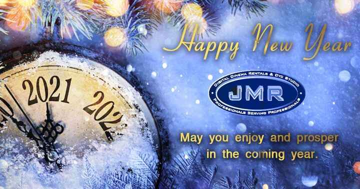 We wish you health, happiness, and prosperity in the coming year from the JMR Digital Cinema Rentals.