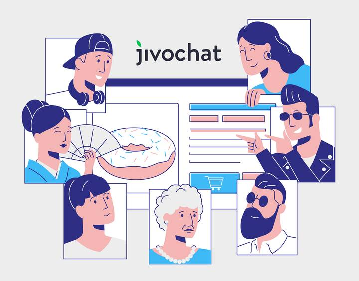 Explainer video we did for a JIvochat — a business messenger (live chat software for websites)https://www.behance.net/ga...