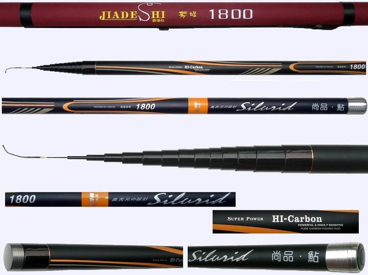 18 meters telescopic pole rod made of 98% carbon manufactured in Japan. Pole-A1-JDS-152-17013 98% High modulus graphite ...