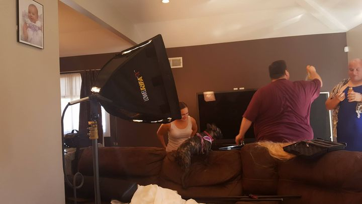 Setting up for a small shoot for a local Staten island home improvement business. Make sure you watch out for it. #theme...