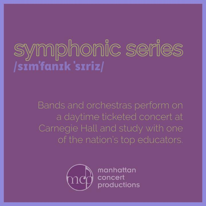 OUR NEXT feature in #DefiningMCP is our #SymphonicSeries: the unmatched educational experience for bands and orchestras ...