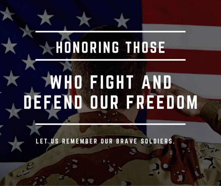 Today we remember the countless men and women who gave their life in honor of our great nation. May we never forget thei...