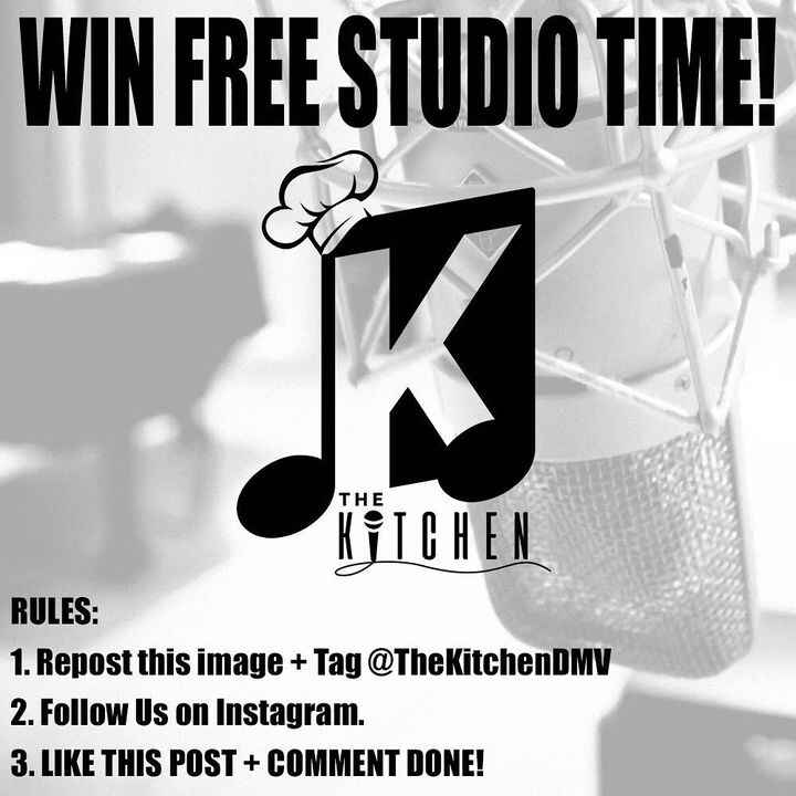 CONTEST ALERT!! 👨🏽🍳🚨WANT TO WIN FREE STUDIO TIME?! Here's How! Repost this image & tag @thekitchendmv Follow us !Like t...