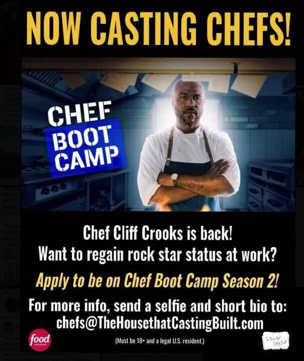 We are NOW #CASTING the second season of Food Network's HIT series #ChefBootCamp!!! We're looking for #restaurant owners...