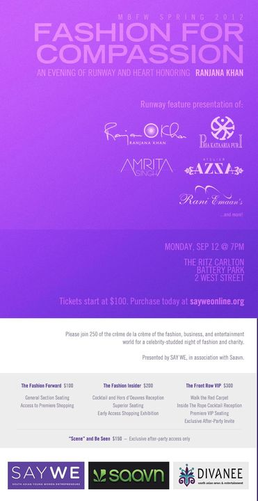 It's the MUST ATTEND Fashion Week Event