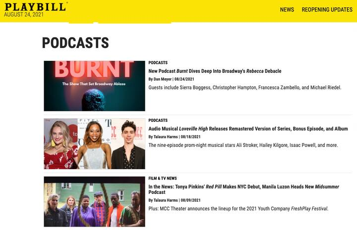 When all the Playbill preview stories are Kampfire's.#KampFIREUpYourAudiences