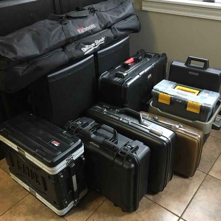 This is the gear we used for a fairly basic PA gig last night. The critical component that isn't captured in the photo i...