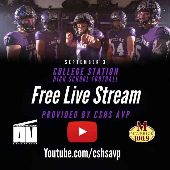 FREE OFFICIAL LIVE STREAMSCougar Varsity Football Home GamesProvided by CSHS Audio Video Production in association with ...