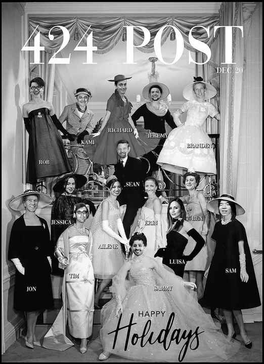Merry Christmas and a Glamorous New Year from the gang at 424Post