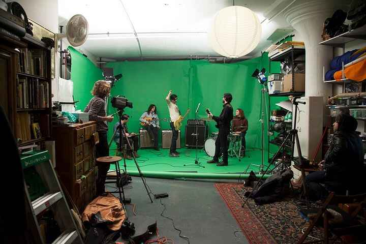 """The Men music video shoot for """"I Saw Her Face"""" at PERRELLI STUDIOS"""