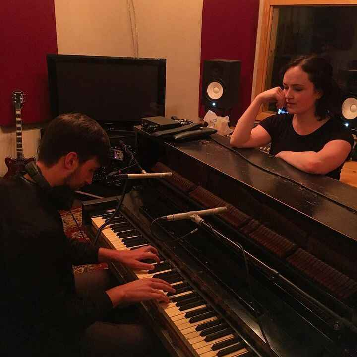 Recording piano with @mikeplayspiano for the new @catrickman album! #piano #callitart
