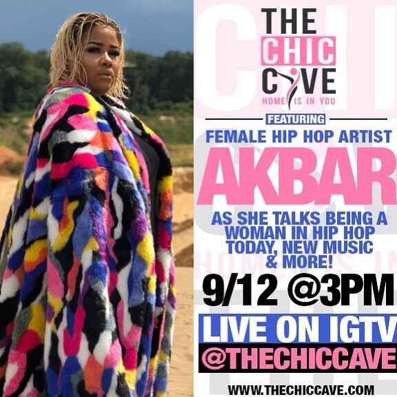 In 10 minutes we are LIVE w/ rising FEMALE HIP HOP artist @akbar__v! It's never easy being the minority in the room foun...