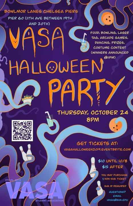 Hey y'all! The VASA Halloween Party is approaching fast, this Thursday @ 8pm! Be sure to grab your tickets soon! Enjoy t...