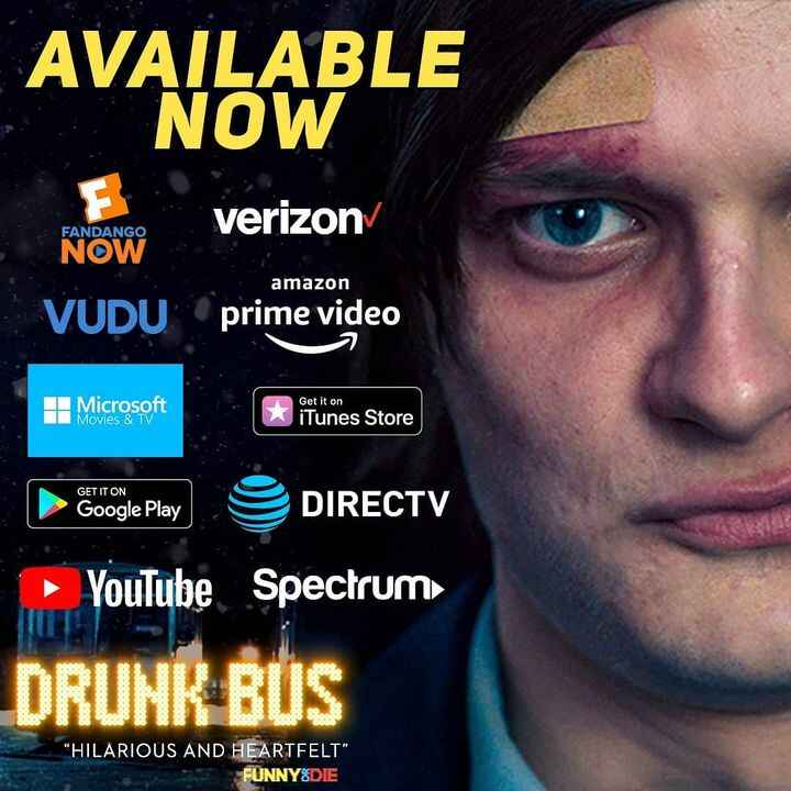 """Find """"Drunk Bus"""" on all of these platforms!"""