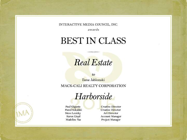 We did it again! Very excited that the Harborside website beat out 485 other entries to win Best in Class in the Real Es...