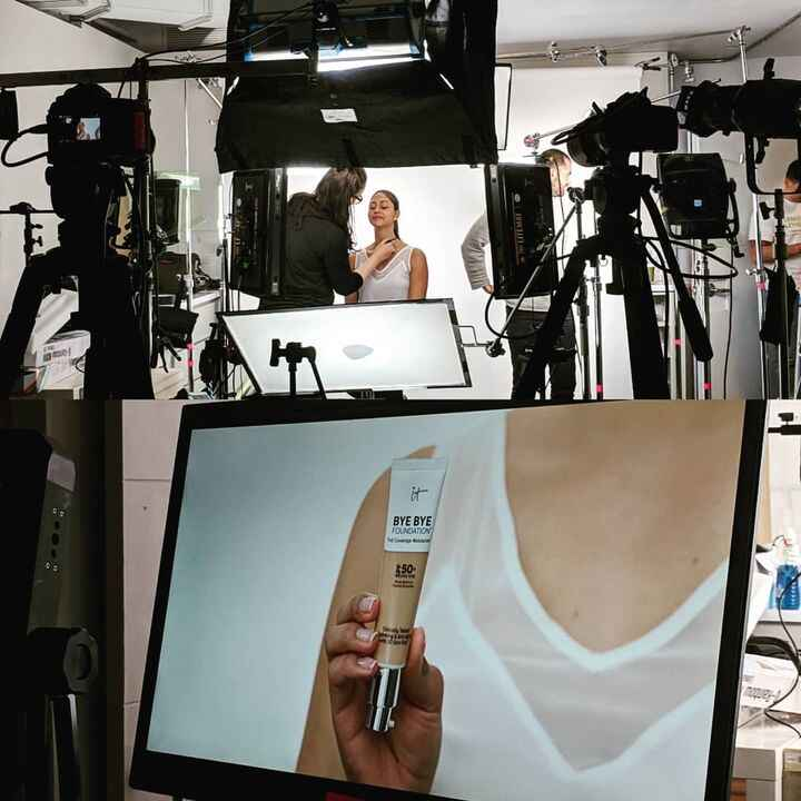 Fun day directing a spot for our friends at @itcosmetics #beauty #director #production #productioncompany #cinematograph...