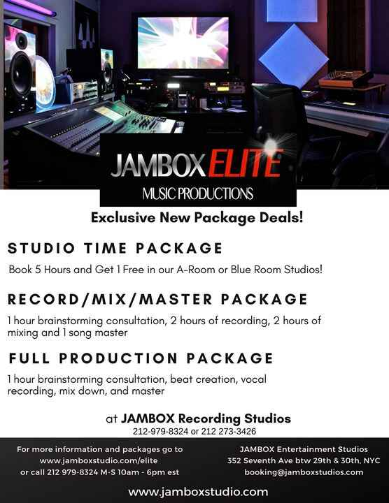 JAMBOX Elite Music Services… Exclusive Package DealsNew Music Service packages to give your projects the boostthat they ...