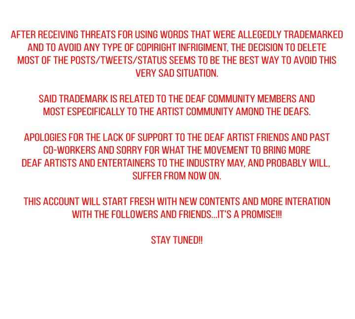 If you noticed that we deleted a lot of our tweets, here is why. Stay tuned!! A lot more to come!!PS: **Copyright, sorry...
