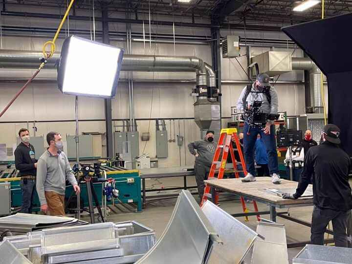 The last shot of the last day of our shoot for the FW Webb company. This is their duct works in Haverhill, MA.