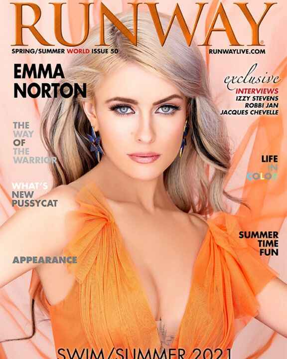 The new Issue of RUNWAY is out, EMMA NORTON featured in SWIM SUMMER #swim #summer #swimwear #runway #fashion #couture #l...