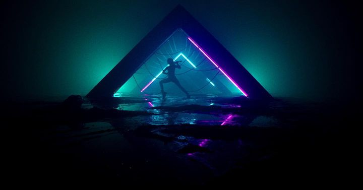 Underground, by @lindseystirling. Get transported into a dystopian future where citizens are locked up, lightning strike...