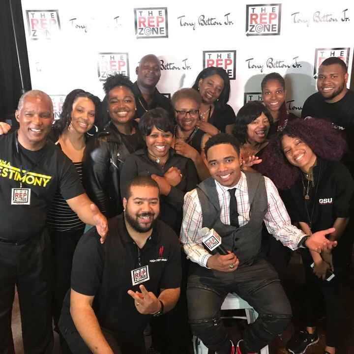 """Host & Crew of """"THE REP ZONE LIVE!"""" show.  This is the epic team photo taking after wrapping the live show tapings of 2 ..."""