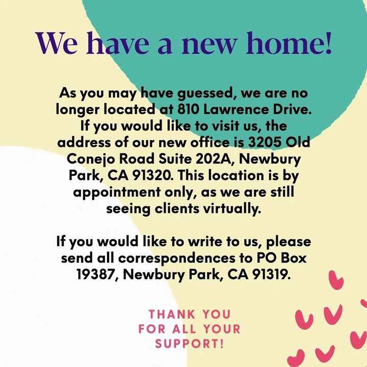 We have a new home! As you may have guessed, we are no longer located at 810 Lawrence Drive. If you would like to visit ...