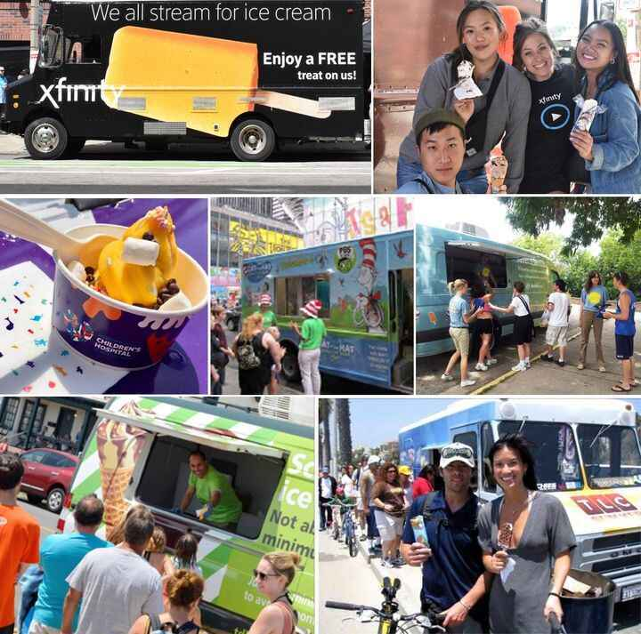 🍦Treat your audience this summer with ice cream  trucks! Everyone Loves Ice Cream ! We engage consumers with: Branded tr...
