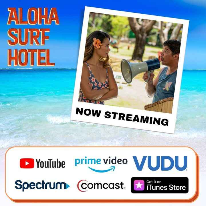 """Our new comedy """"ALOHA SURF HOTEL"""" is available for rent/purchase on many VOD platforms as of today, Oct. 12. Enjoy!"""