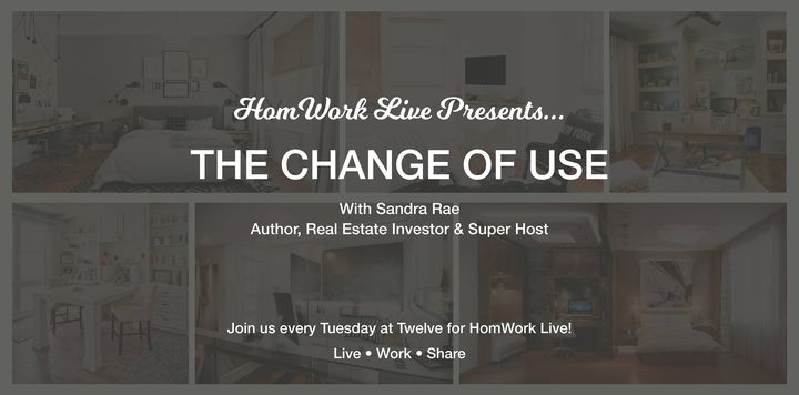 Join us today at 12 for HomWork Live with Author, Real Estate Investor & Super Host Sandra Rae as we talk about 'The Cha...