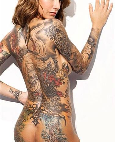 Back Tattooes are so Sexy! If you like Back Tattooes, pls Like Us -> Suicide Modeling Agency.