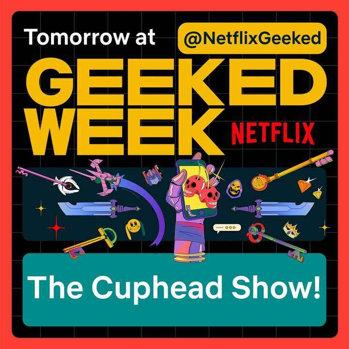 #TheCupheadShow is ready for prime time! Tune your dials to Netflix Geeked tomorrow at 9:00AM PST sharp for the big reve...