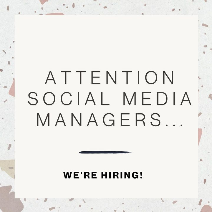 We're back at it... it's been a busy first half of 2021 and we need a Social Media Manager with 1-4 years of social medi...