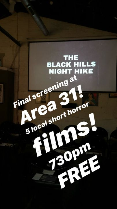 The final screening of Area 31 is tonight at 7:30pm!  Free.For our final screening, we wanted to showcase what Area 31 h...