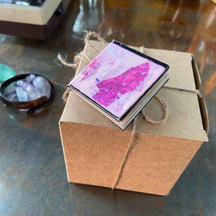 best day ever! artist book keychain and magical candle made by the enormously talented duo Jennifer Shagawat and John Ch...