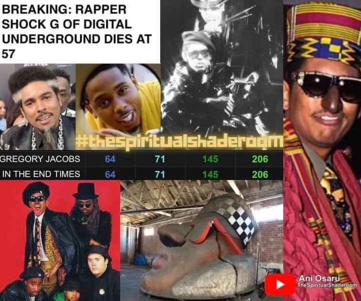 Check out our show at 1:00pm pst with special guest Ani Osaru we will chat about Shock G and Gematria!!