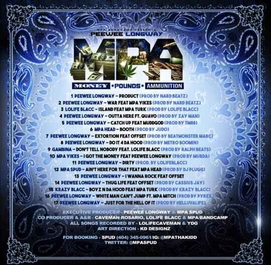 MPA BANDCAMP released a compilation project, MPA VOL 2, on August 17th, 2015 featuring the entire MPA roster. Peewee als...