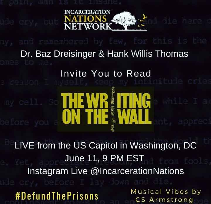 """Tonight we'll be taking over a location in D.C. for the continuation of The Writing on the Wall project. """"The Writing on..."""