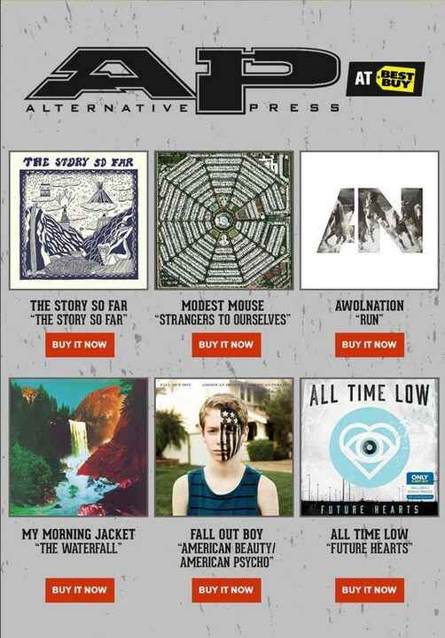 Visit your local Best Buy and pick up The Story So Far, Modest Mouse, AWOLNATION, My Morning Jacket, Fall Out Boy and Al...
