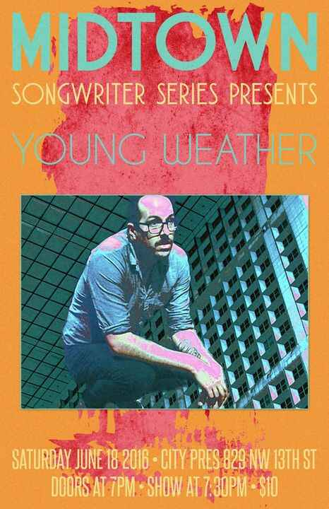 The Midtown Songwriter Series is tonight!!!  Don't miss this great show featuring Young Weather, elms, and Student Film!...