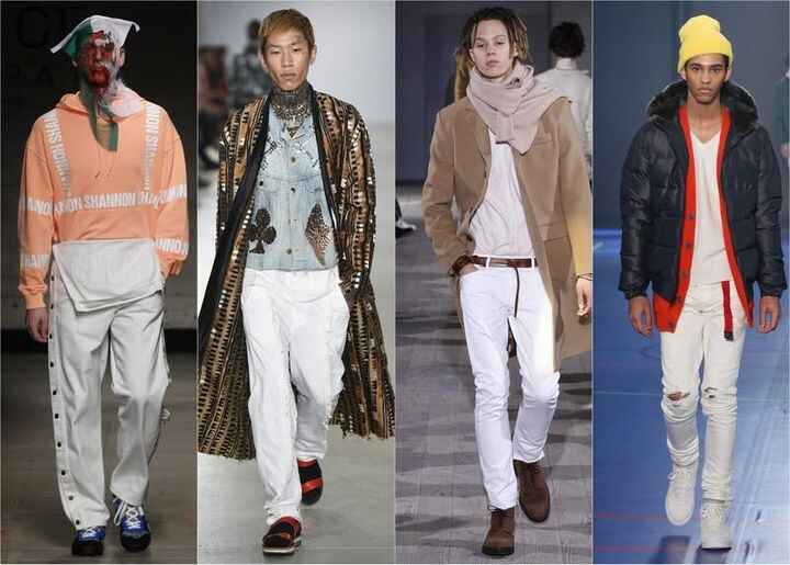 Think this will be the year we overcome our fear of Winter Whites? #mensfashion #runway