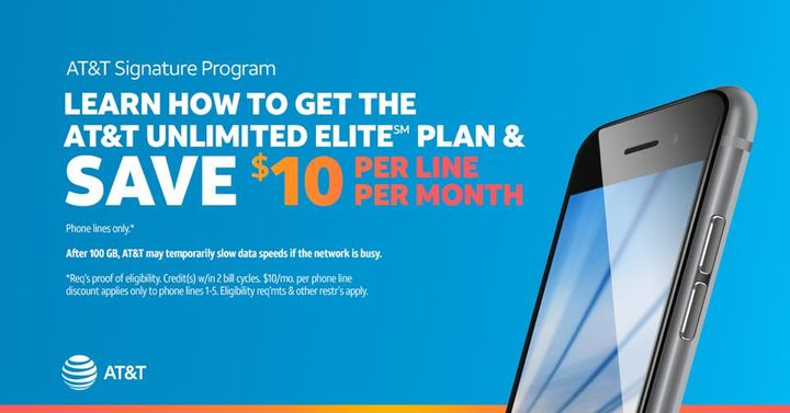 Check out our exclusive new offer for AT&T Signature Program customers on our best unlimited plan. Visit our AT&T Store ...