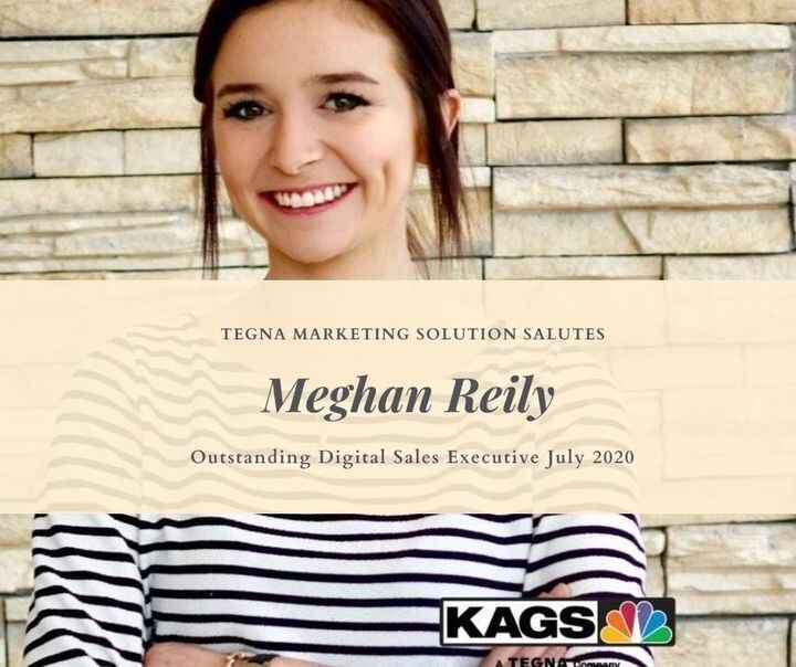 Congratulation Meghan Reily for being the top digital salesperson  for July 2020!  Keep up the great work!