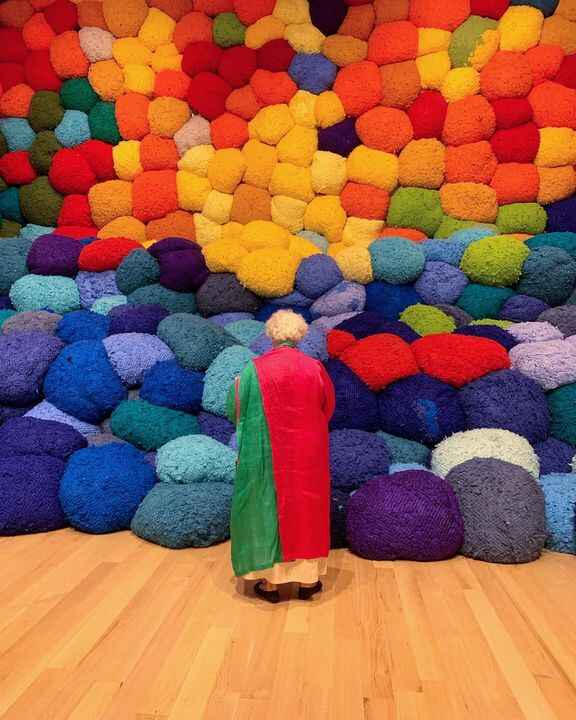 #campoabierto opened this weekend The Bass celebrating the work of Sheila Hicks #miamibeach #thebassmuseum #sheilahicks