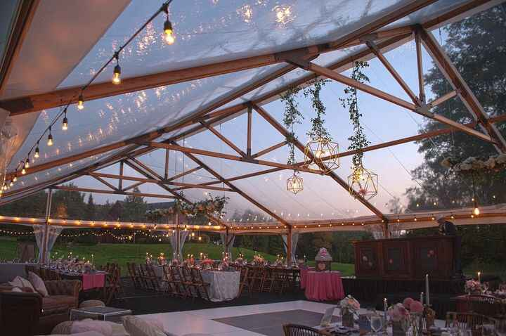 Don't rain on my parade....well wedding. Rain or Shine Tent and Events has got you covered with beautiful designs for yo...
